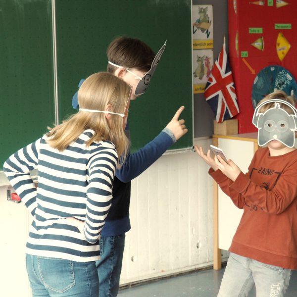 Ein DigiTales-Rollenspiel im Unterricht an der Zeppelinschule in Stuttgart Fellbach