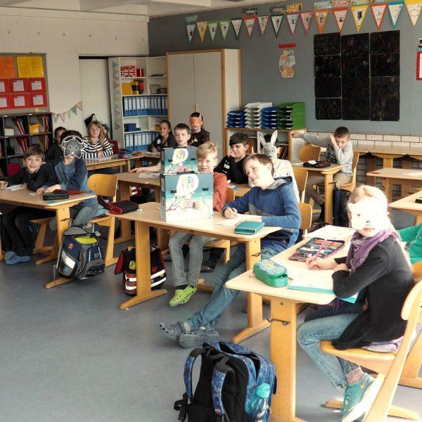 Arbeit mit den DigiTales im Unterricht an der Zeppelinschule in Stuttgart Fellbach