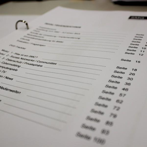 Inhaltsverzeichnis des SMC-Readers